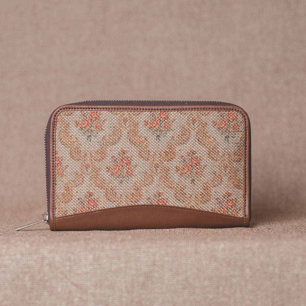 Wallets for girls - Beige Petal