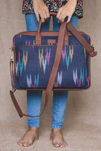 Load image into Gallery viewer, Blue Multi Strip Laptop Bag