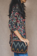 Load image into Gallery viewer, Ikat Brown Wave Sling Bag