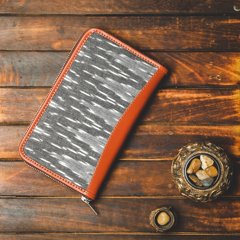 Ikat Wave Grey Chain Wallet