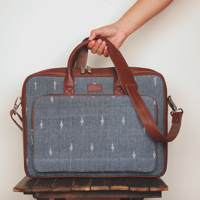 Ikat Dot Grey Laptop Bag