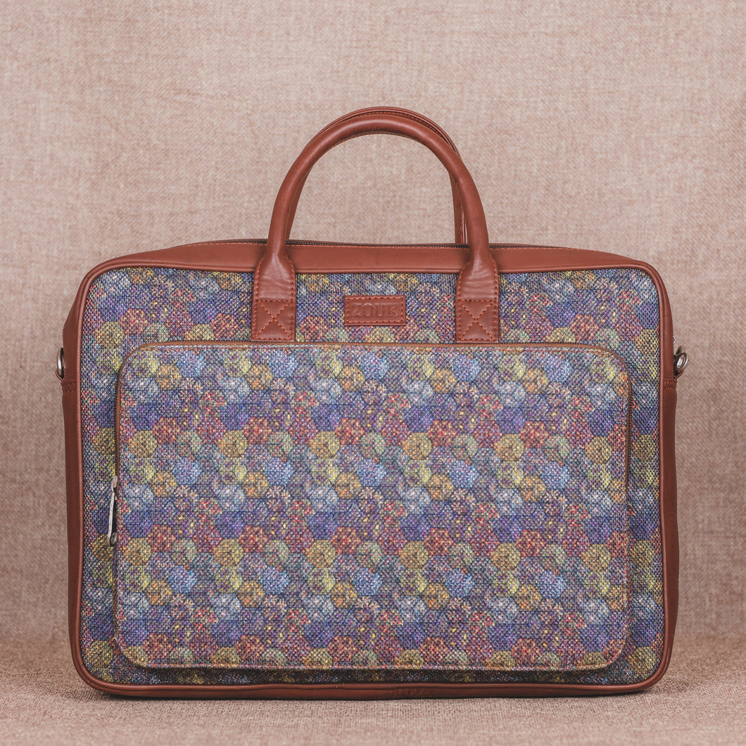 Zouk Multi Crystal Print Laptop Bag
