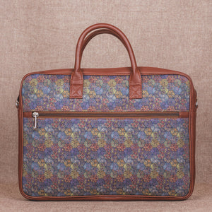 Zouk Multi Crystal Print Laptop Bag - back