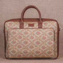 Load image into Gallery viewer, Beige Petal Motif Laptop Bag