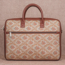 Load image into Gallery viewer, Beige Petal Motif Laptop Bag - Back