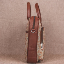 Beige Petal Motif Laptop Bag