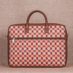 Geometric Crystal Laptop Bag - Back