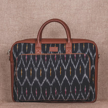 Load image into Gallery viewer, Ikat Black Multi Maze Laptop Bag