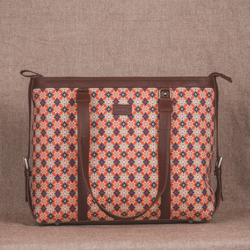 Geometric Crystal Women's Office Bag