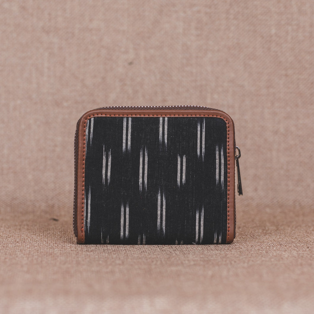 Ikat Black Dash Women's Mini Wallet