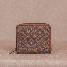 Load image into Gallery viewer, Brown Floral Motif Women's Mini Wallet