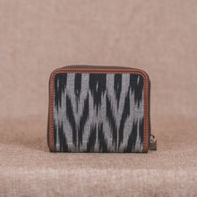 Load image into Gallery viewer, Ikat Grey Black Animal Print Women's Mini Wallet