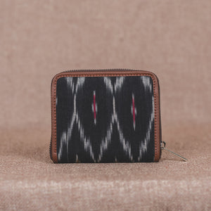 Zouk Women's Wallet - Ikat Black Multi Maze