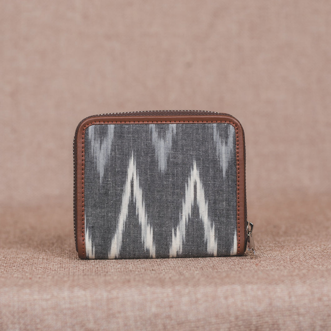 Ikat Grey MultiWave Women's Mini Wallet
