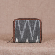 Zouk Women's Wallet - Ikat Grey MultiWave