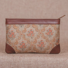 Load image into Gallery viewer, Beige Petal Motif Multipurpose Pouch
