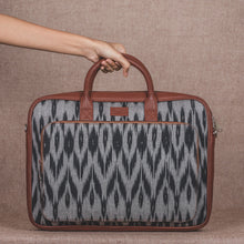 Ikat Grey Black Animal Print Laptop Bag