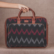 Load image into Gallery viewer, Ikat Black SeaOptics Laptop Bag - front