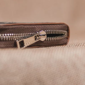 Ikat Striped Grey Chain Wallet