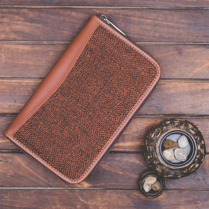 Brown Metal Chain Wallet - Front