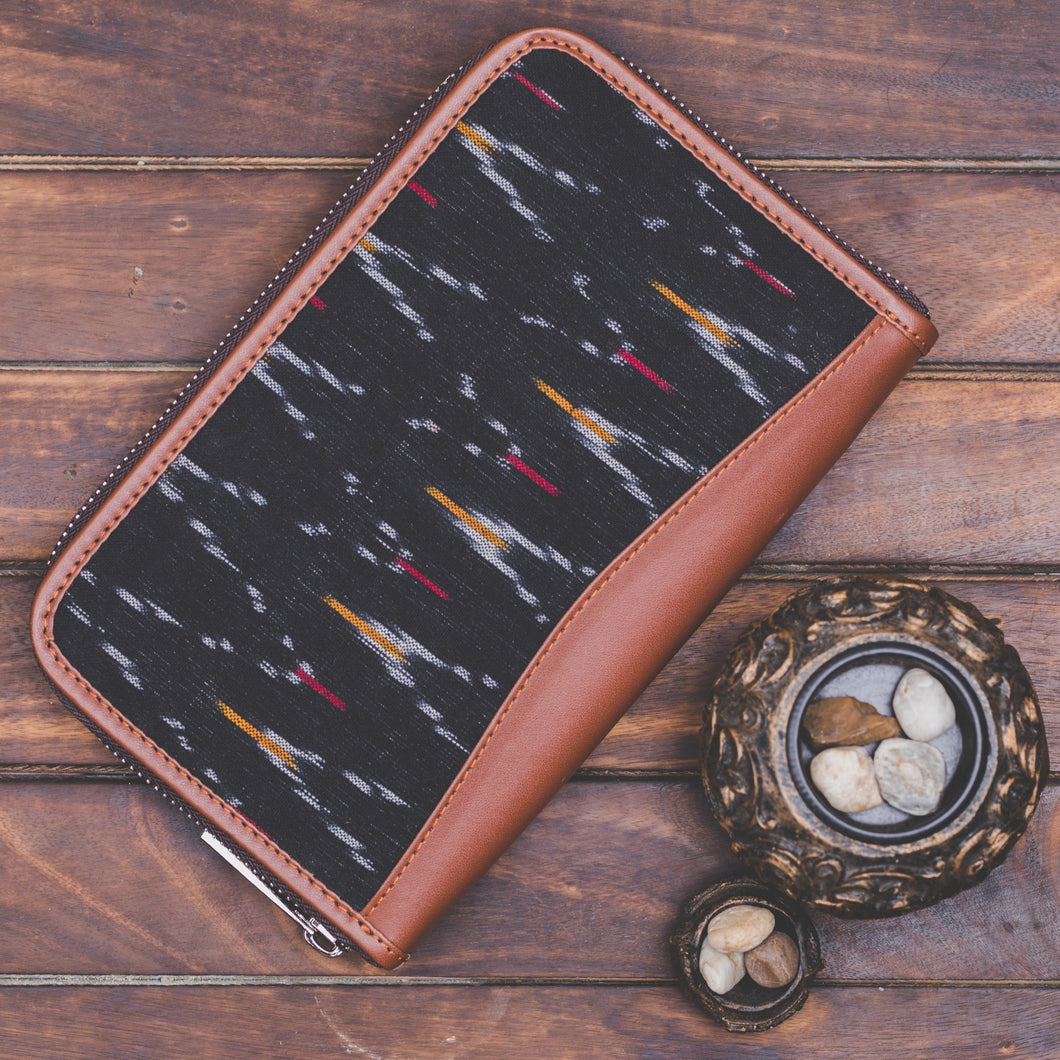 Ikat African Wave Chain Wallet