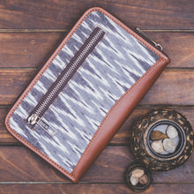 Ikat Slate Grey Chain Wallet