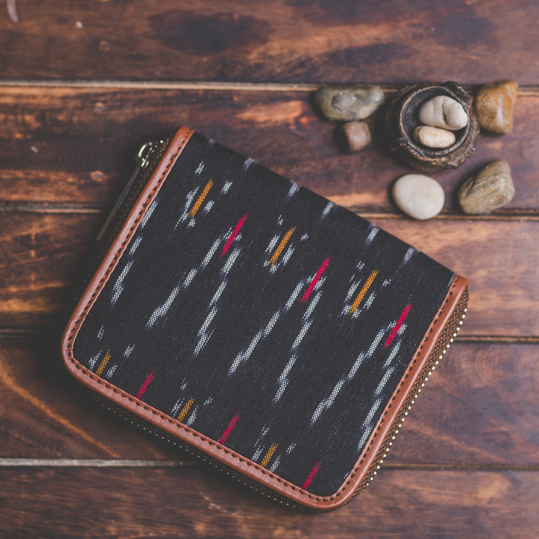 Ikat African Wave Women's Mini Wallet