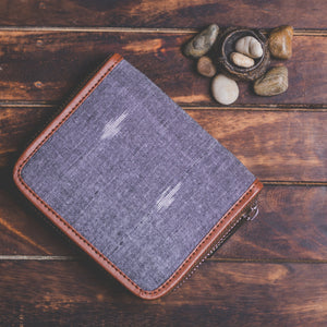 Ikat Grey Dot Women's Mini Wallet