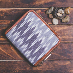 Zouk Women's Wallet - IKat Grey Wave