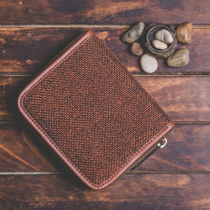 Zouk Women's Wallet - Brown Metal