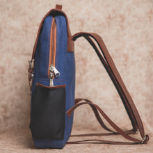Load image into Gallery viewer, Zouk Royal Blue Canvas Backpack