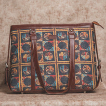 Load image into Gallery viewer, African Art - Women's Office Bag & Chain Wallet Combo