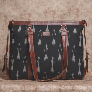 Zouk Ikat Arrow Women's Office Bag - Front View