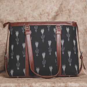 Zouk Ikat Arrow Women's Office Bag - Back View
