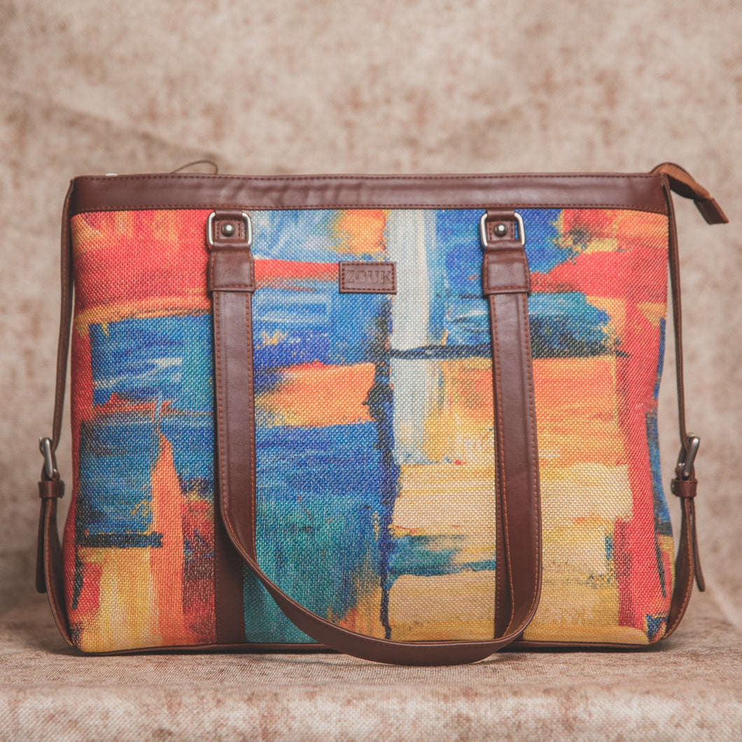Zouk Abstract Amaze Women's Office Bag - Front View