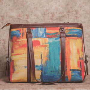 Zouk Abstract Amaze Women's Office Bag - Back View