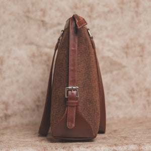 Brown Metal Women's Office Bag