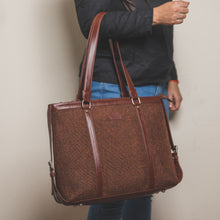 Load image into Gallery viewer, Brown Metal Women's Office Bag