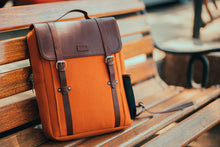 Load image into Gallery viewer, Zouk Orange Canvas Backpack
