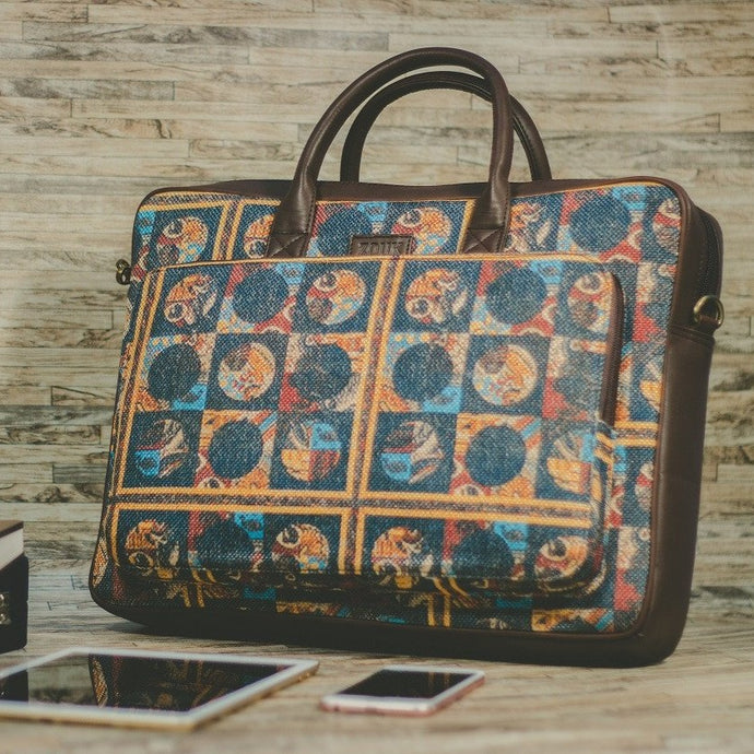 Zouk African Art Laptop Bag