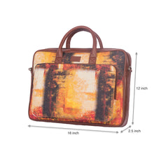Load image into Gallery viewer, Autumn Laptop Bag with dimensions