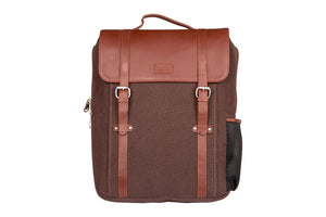Zouk ChocBrown Canvas Backpack