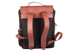 Zouk JetBlack Canvas Backpack