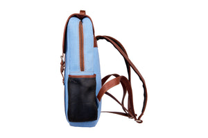 Zouk SeaBlue Canvas Backpack