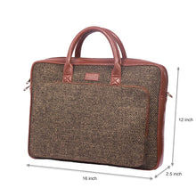 Load image into Gallery viewer, Bristel Laptop Bag with dimensions