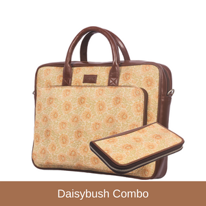 Daisybush - Laptop Bag & Chain Wallet Combo