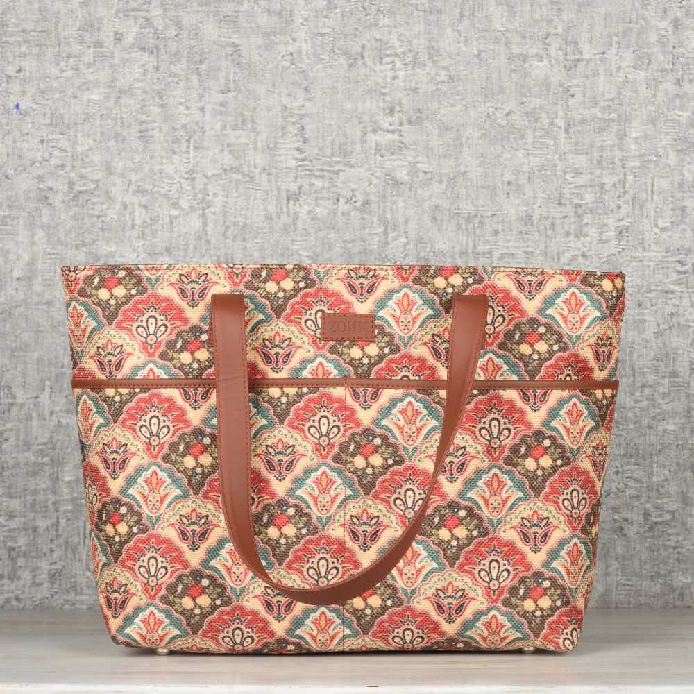 Mughal Art Multicolor Tote Bag