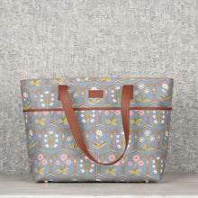 Load image into Gallery viewer, Jaipur Fresco Blue Tote Bag