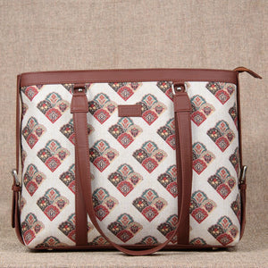 Seashell Motif White Women's Office Bag