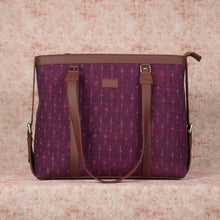 Load image into Gallery viewer, Ikat Magenta Needle Women's Office Bag